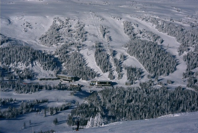 The real Sunshine Village looking like a toy